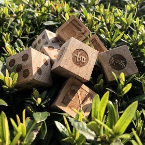 秋茂嚴選-木質骰子